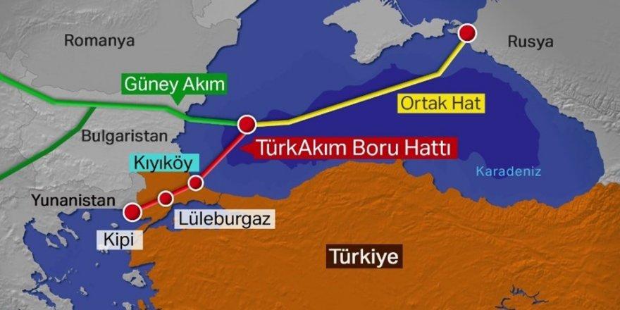 TürkAkım'da iki boru hattına da doğal gaz verildi