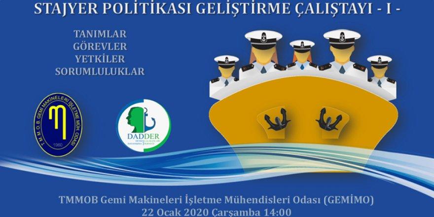 Stajyer Politikası Geliştirme Çalıştay'ı düzenlenecek