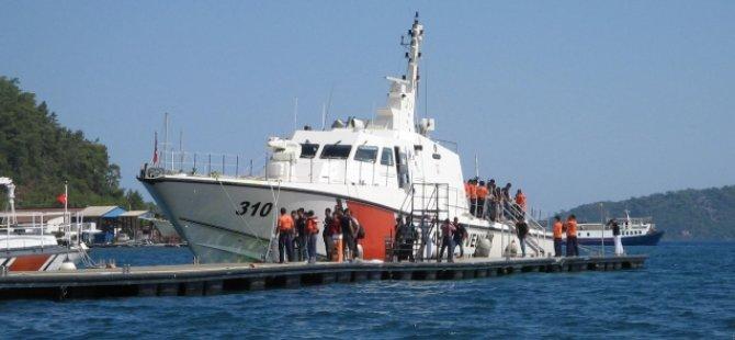 Didim'de 9 Suriyeli kaçak kurtarıldı