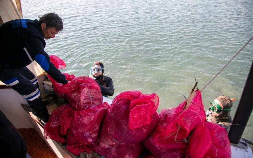 Denizin dibinden kilolarca atık çıktı
