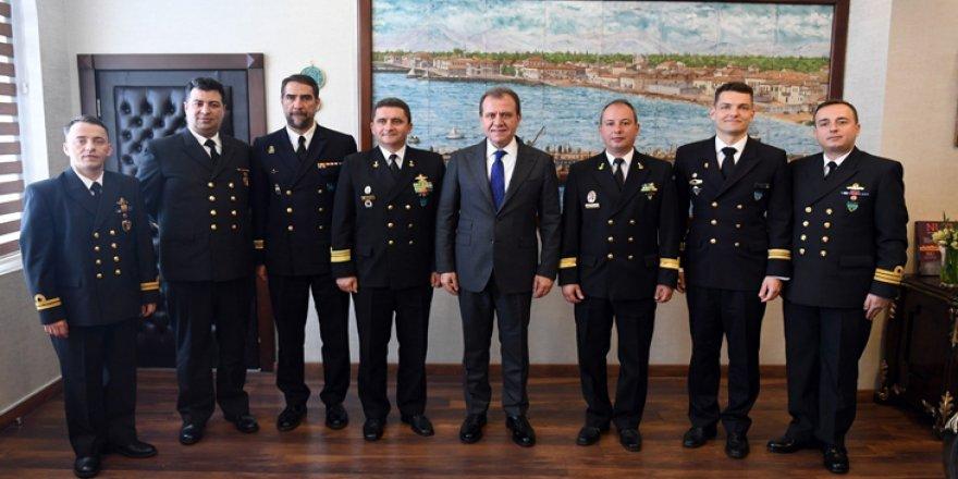 NATO gemi komutanları ağırlandı