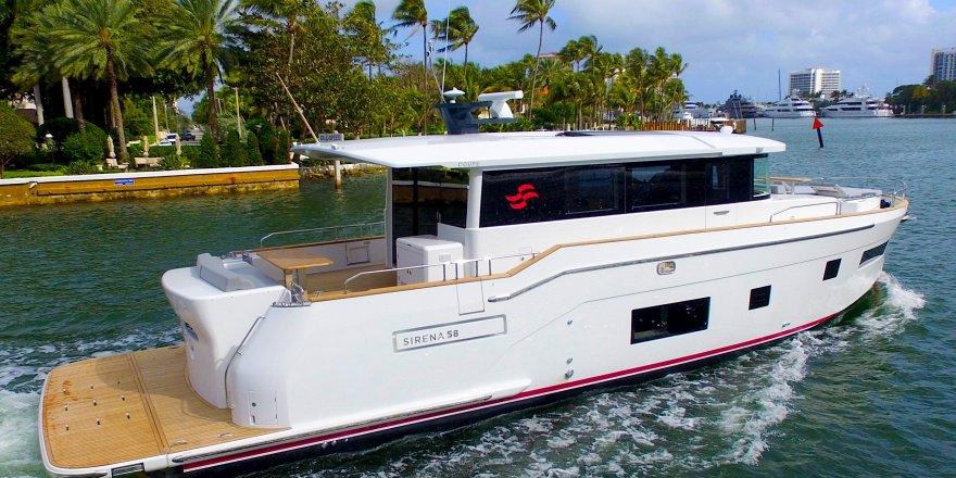 Sirena 58 Coupé, Miami Baot Show'da görücüye çıktı