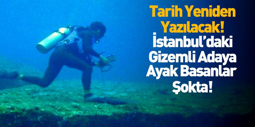 İstanbul'un sualtında gizemli ada