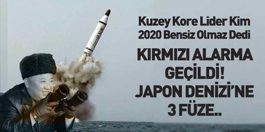 Kuzey Kore Japon Denizi'ne Füze Fırlattı