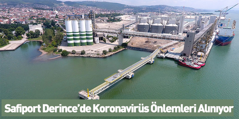 Safiport Derince'de Koronavirüs Önlemleri Alınıyor