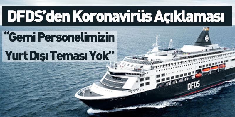 DFDS'den Koronavirüs Açıklaması