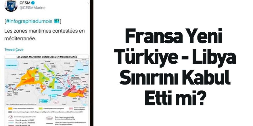 Fransız Deniz Kuvvetleri Türkiye - Libya Arasındaki Yeni Sınırları Paylaştı