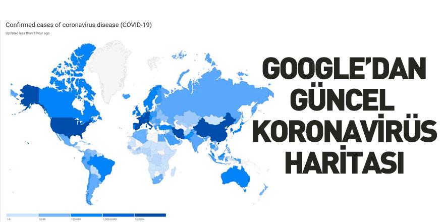 Google Güncel Koronavirüs Haritası Geliştirdi