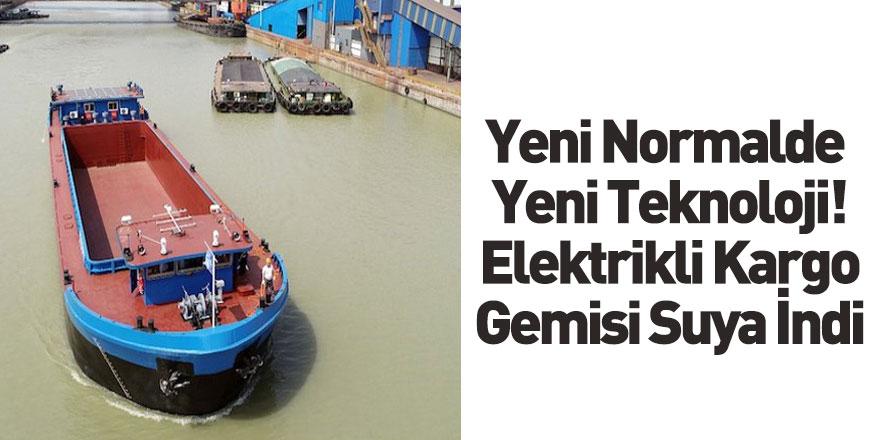 Çin'de Elektrikli Kargo Gemisinin Test Yolculuğu Yapıldı