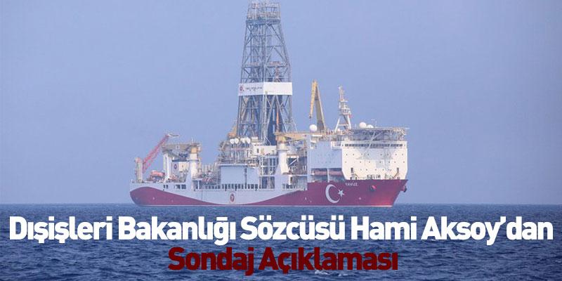 Dışişleri Bakanlığı Sözcüsü Hami Aksoy'dan Sondaj Açıklaması