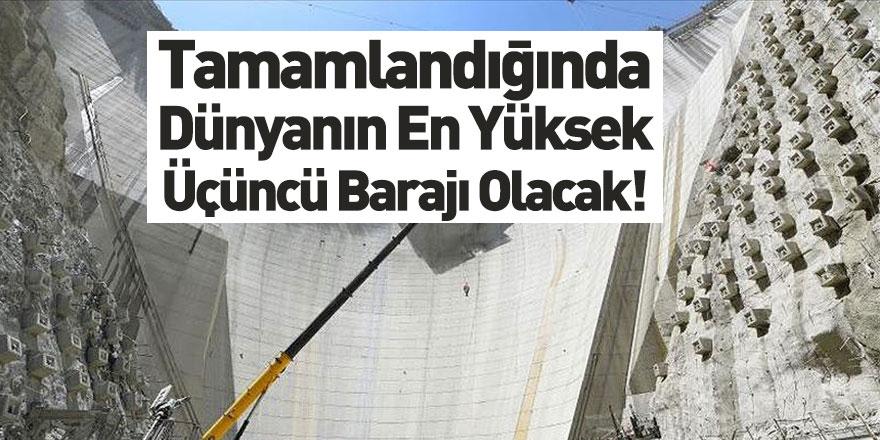 Artvin Yusufeli Barajı Dünya Üçüncüsü Olacak