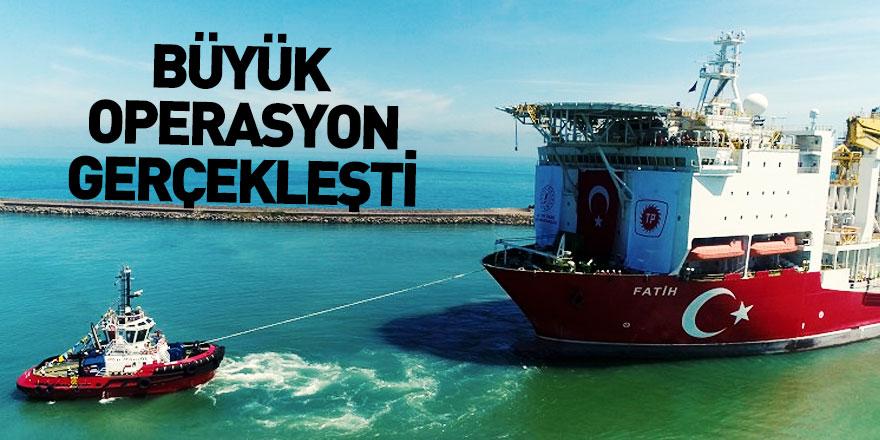 Fatih Sondaj Gemisi Trabzon Limanı'na Demirledi