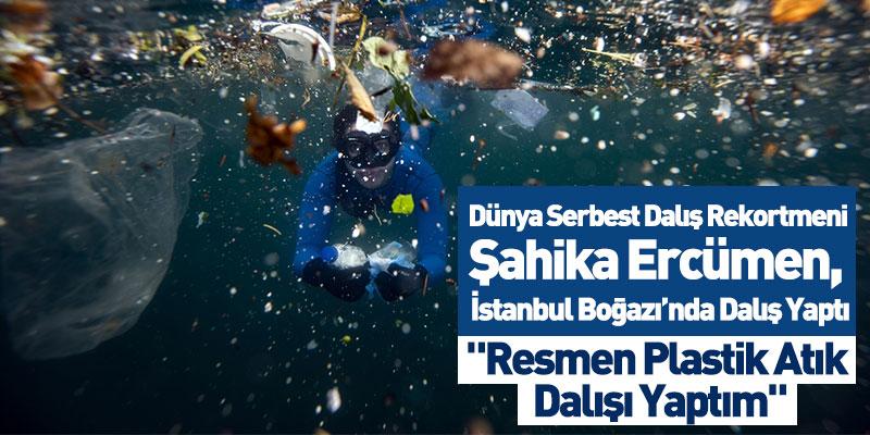 Dünya Serbest Dalış Rekortmeni Şahika Ercümen, İstanbul Boğazı'nda Dalış Yaptı