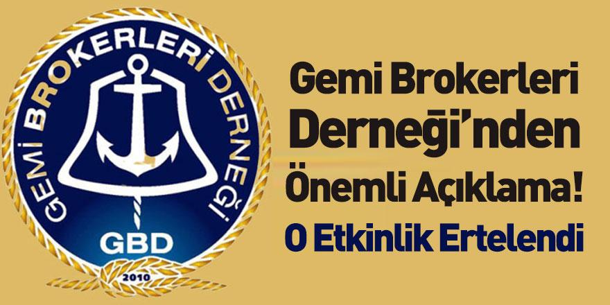 Gemi Brokerleri Derneği Bosphorus Ship Brokers Dinner Etkinliğini Erteledi