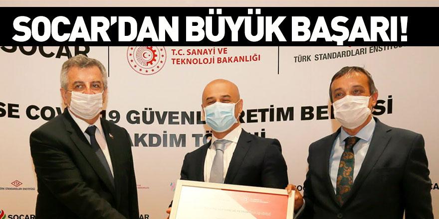 SOCAR Türkiye TSE COVID-19 Güvenli Üretim Belgesi'ni Aldı
