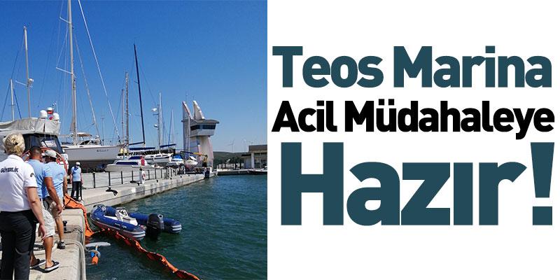 Teos Marina Acil Müdahaleye Hazır