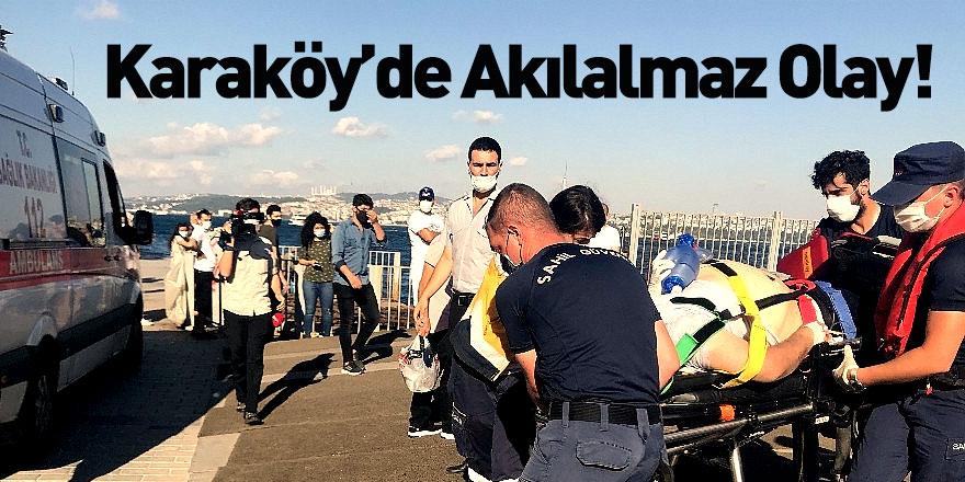 Karaköy'de Vapur Bekleyen Yolcu Denize Düştü