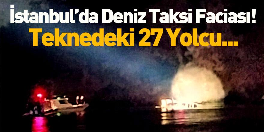 İstanbul Heybeliada'da Deniz Taksi Alabora Oldu