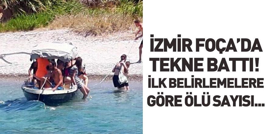 İzmir Foça'da Tekne Battı! 4 Kişi Hayatını Kaybetti