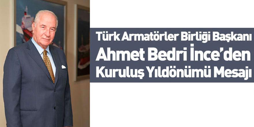 Türk Armatörler Birliği Başkanı'ndan 81'nci Kuruluş Yıldönümü Mesajı