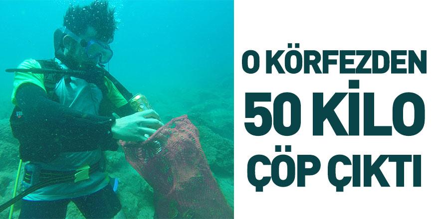 Saros Körfezi'nden 50 Kilo Çöp Çıktı