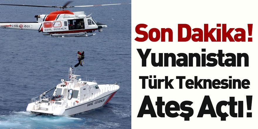 Yunanistan Tarafından Türk Teknesine Ateş Açıldı! Yaralılar Var