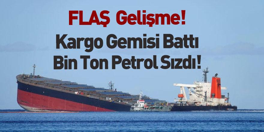 Kargo Gemisinden Sızan Petrolün Yarısı Temizlendi