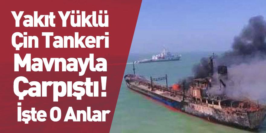 Çin Tankeri Kum Mavnasıyla Çarpıştı