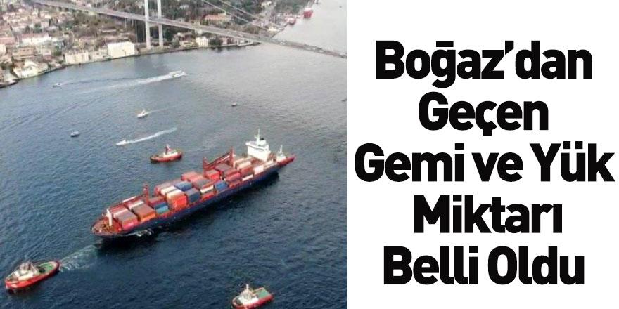 İstanbul Boğazı'ndan Geçen Yük Miktarında Artış Yaşandı