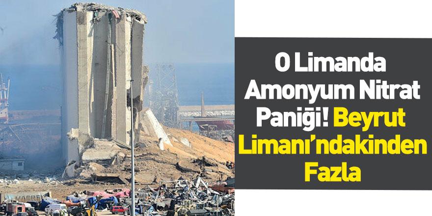 Senegal Dakar Limanı'nda Amonyum Nitrat Paniği