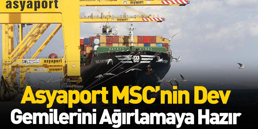 Asyaport MSC'nin Dev Gemilerini Ağırlamaya Hazır