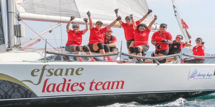 5.Deniz Kızı Kadın Yelken Kupası'nın Şampiyonu Belli Oldu