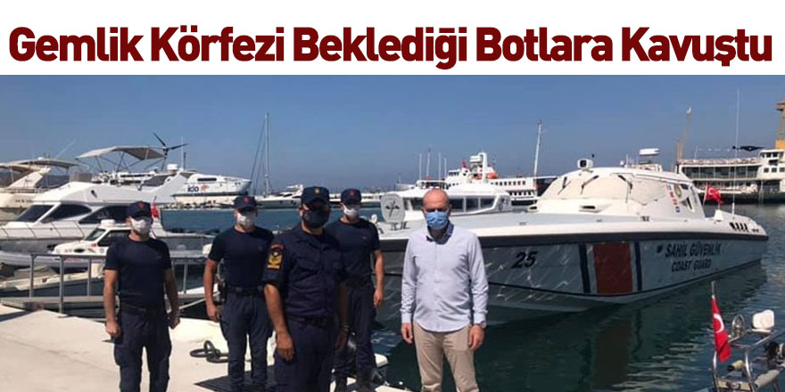 Gemlik Körfezi'nde 2 Adet Sahil Güvenlik Botu Hizmete Girdi