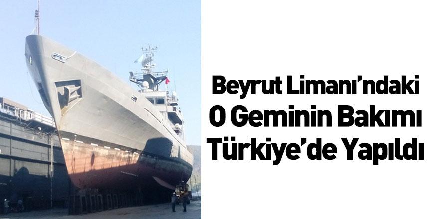 Beyrut'taki Patlamada Hasar Gören Askeri Gemi Türkiye'de Onarıldı