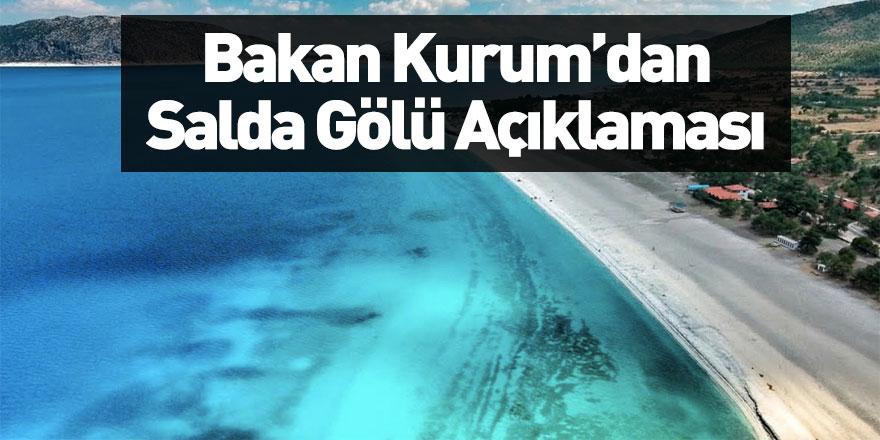 Çevre ve Şehircilik Bakanı Murat Kurum'dan Salda Gölü Açıklaması