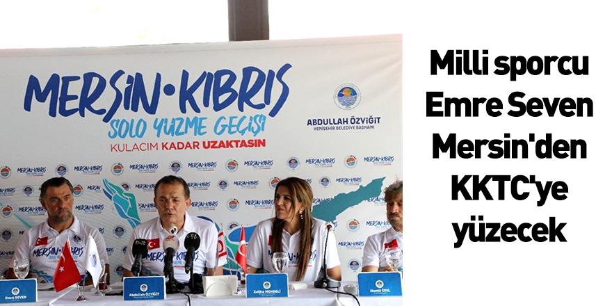 Milli Sporcu Emre Seven, Mersin'den KKTC'ye Yüzecek
