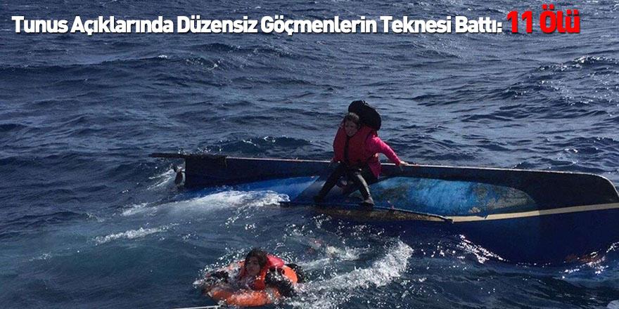 Tunus Açıklarında Düzensiz Göçmenlerin Teknesi Battı: 11 Ölü