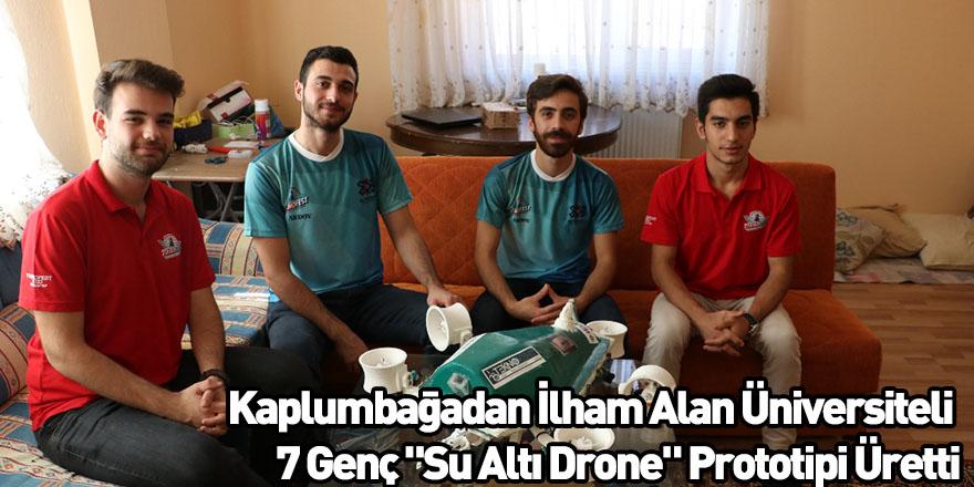 """Kaplumbağadan İlham Alan Üniversiteli 7 Genç """"Su Altı Drone"""" Prototipi Üretti"""