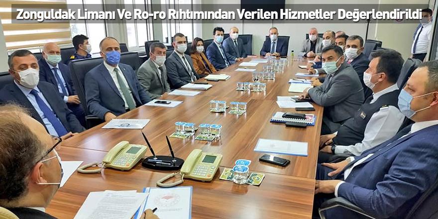 Zonguldak Limanı Ve Ro-ro Rıhtımından Verilen Hizmetler Değerlendirildi