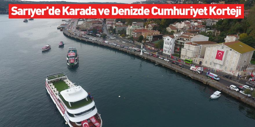 Sarıyer'de Karada ve Denizde Cumhuriyet Korteji