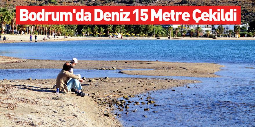 Bodrum'da Deniz 15 Metre Çekildi