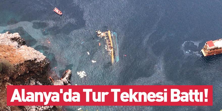 Alanya'da Tur Teknesi Battı!
