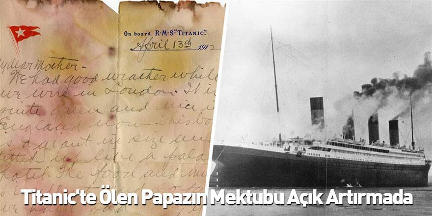 Titanic'te Ölen Papazın Mektubu Açık Artırmada
