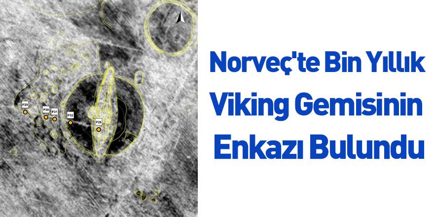 Norveç'te Bin Yıllık Viking Gemisinin Enkazı Bulundu