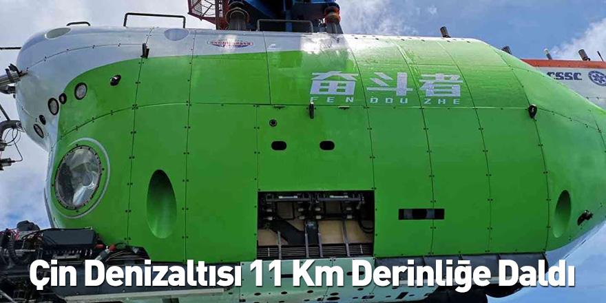 Çin Denizaltısı 11 Km Derinliğe Daldı