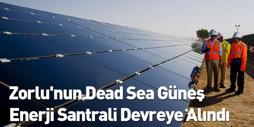 Zorlu'nun Dead Sea Güneş Enerji Santrali Devreye Alındı
