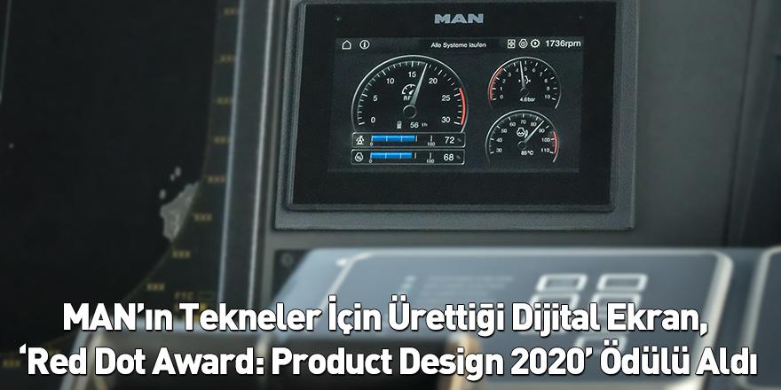 MAN'ın Tekneler İçin Ürettiği Dijital Ekran, 'Red Dot Award: Product Design 2020' Ödülü Aldı