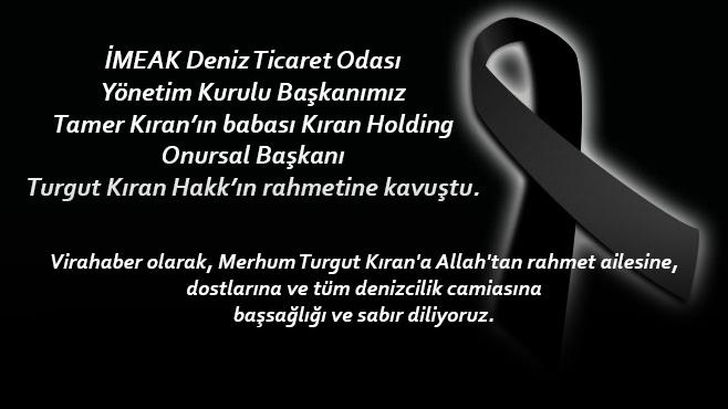 Kıran Holding Onursal Başkanı Turgut Kıran Toprağa Verildi