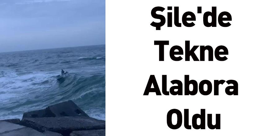 Şile'de Tekne Alabora Oldu