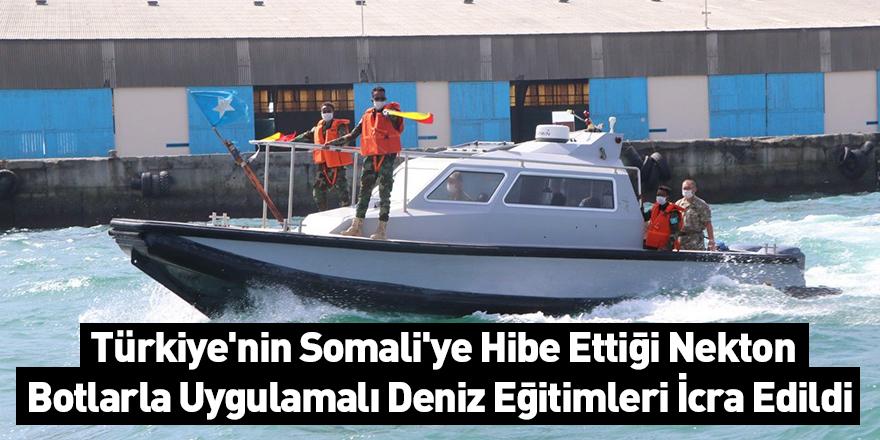 Türkiye'nin Somali'ye Hibe Ettiği Nekton Botlarla Uygulamalı Deniz Eğitimleri İcra Edildi